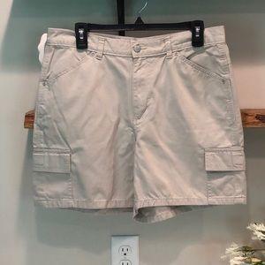 RIDERS khaki cargo shorts